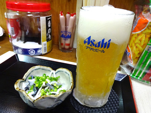13生ビールお通し