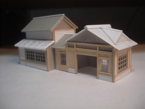 鉄道模型 ローカル駅舎 2