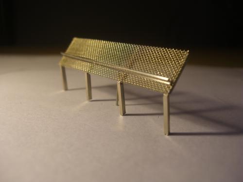 鉄道模型 ジオラマ 土砂防護柵 6