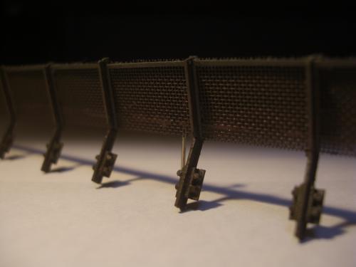 鉄道模型  土砂防護フェンス 4