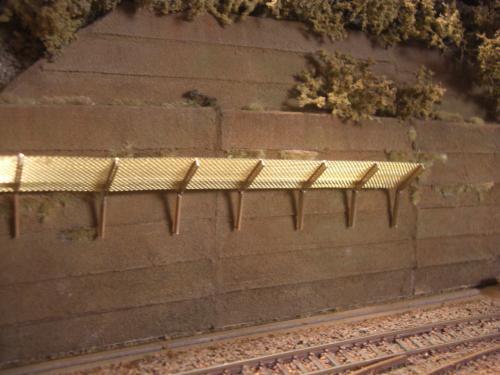 鉄道模型 ジオラマ 土砂防護柵 1