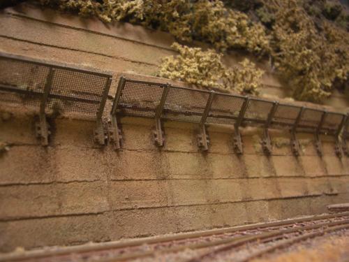 鉄道模型  土砂防護フェンス 5