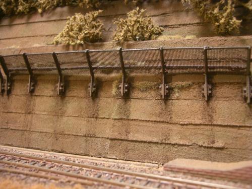 鉄道模型  土砂防護フェンス 6