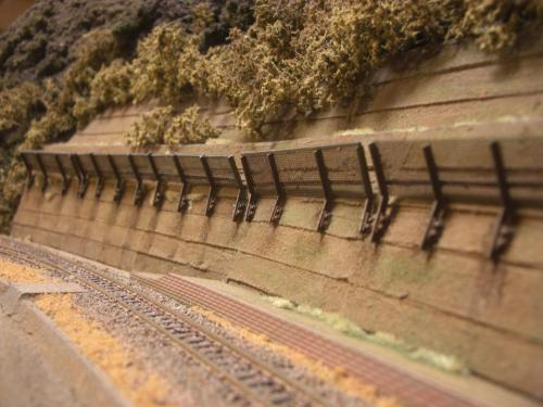 鉄道模型  土砂防護フェンス 1