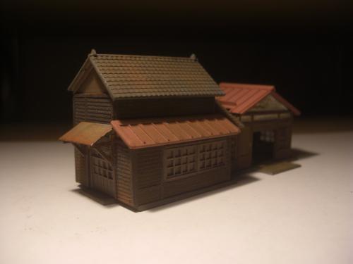 鉄道模型 ローカル駅舎 4