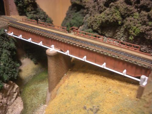 鉄道模型  鉄橋 ローカル線 1