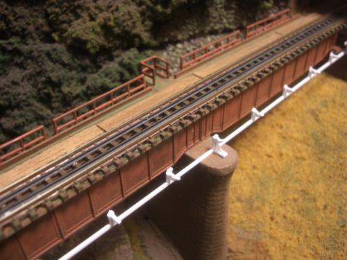 鉄道模型  鉄橋 ローカル線 2