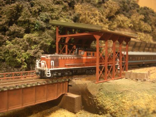 鉄道模型 スノーシェッド 13