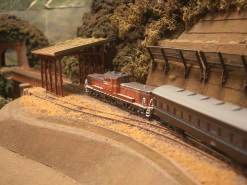 鉄道模型 スノーシェッド 14