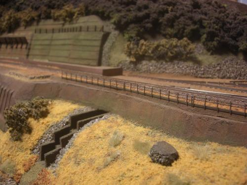 鉄道模型 保津峡 ローカル線 鉄柵2