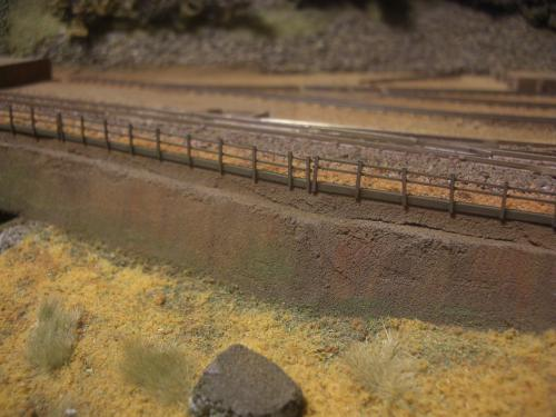 鉄道模型 保津峡 ローカル線 鉄柵3