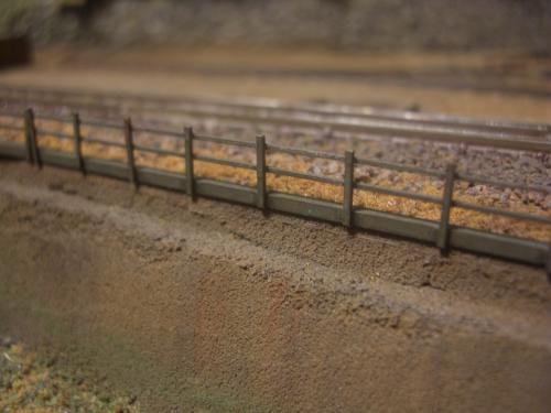 鉄道模型 保津峡 ローカル線 鉄柵4