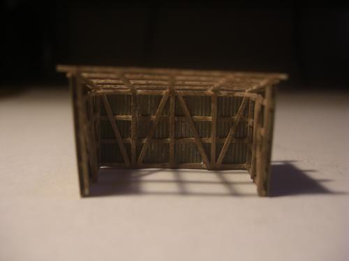 鉄道模型 トタン小屋 3