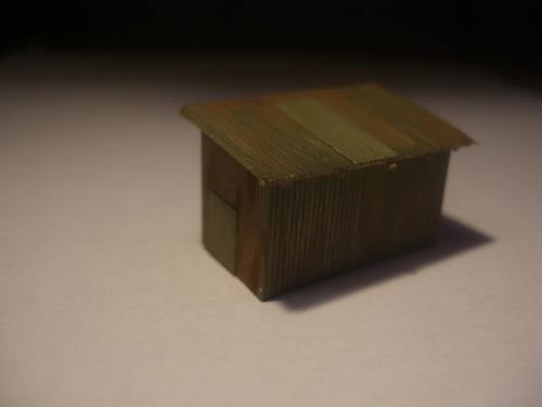 鉄道模型 トタン小屋 5