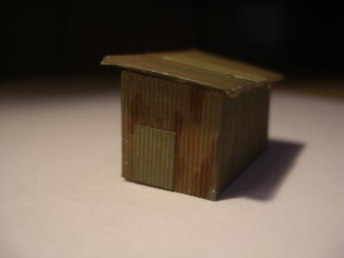鉄道模型 トタン小屋 7