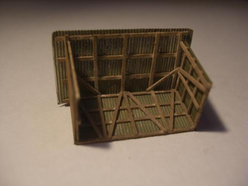 鉄道模型 トタン小屋 8