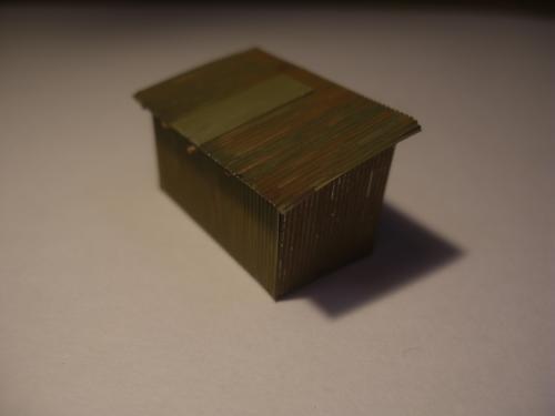 鉄道模型 トタン小屋 9
