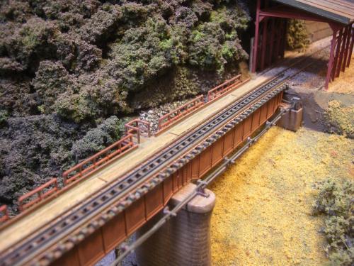 鉄道模型  鉄橋 ローカル線 4