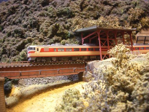 鉄道模型  鉄橋 ローカル線 6