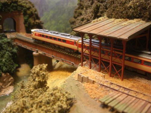 鉄道模型  鉄橋 ローカル線 7