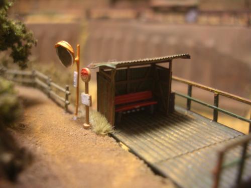 鉄道模型 バス停