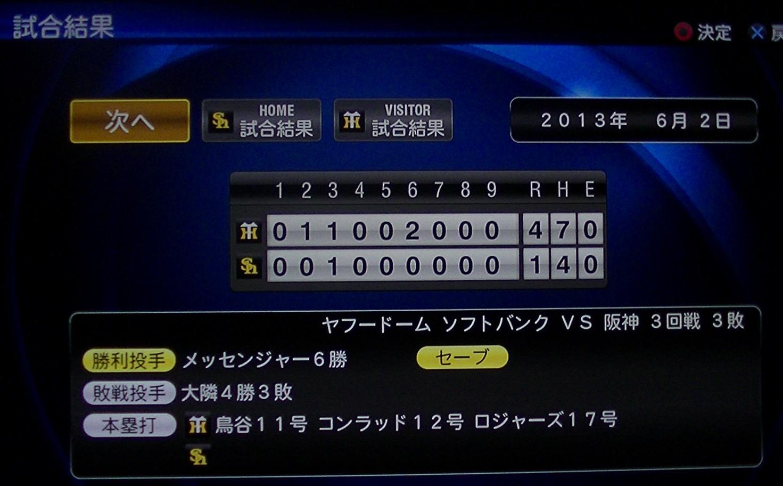 プロスピ2013対ソフトバンク3回戦(ビジター)H25.6.2分 019
