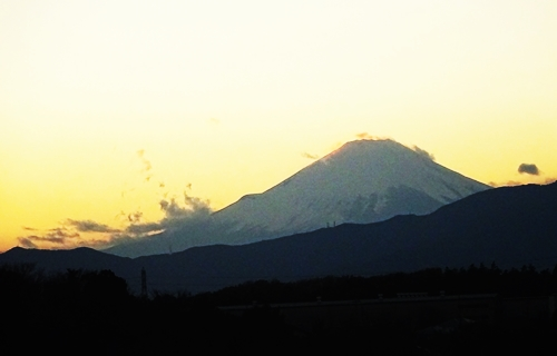 DSC00914日没後の富士山
