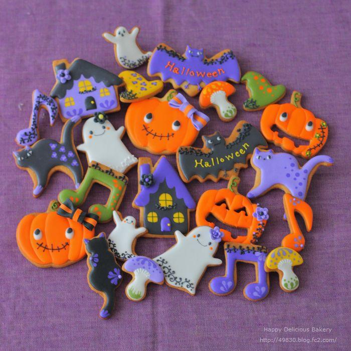 925ハロウィンクッキー紫