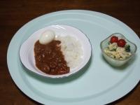 11/12 夕食 バターチキンカレー、ブロッコリーとポテトのサラダ