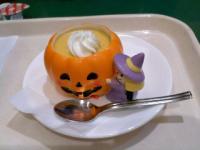 10/5  かぼちゃのプリン ハロウィン容器で カフェジュニア