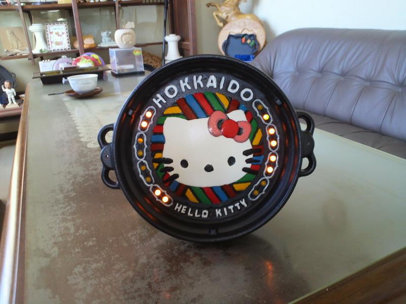 ファイン計器さん作成のキティちゃんデコ鍋
