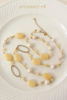 【accessory +K】 ハニーストーン・ネックレス