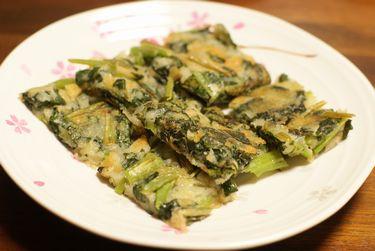 小松菜とじゃが芋のチヂミ