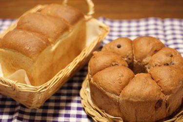 ライ麦食パンとリングパン