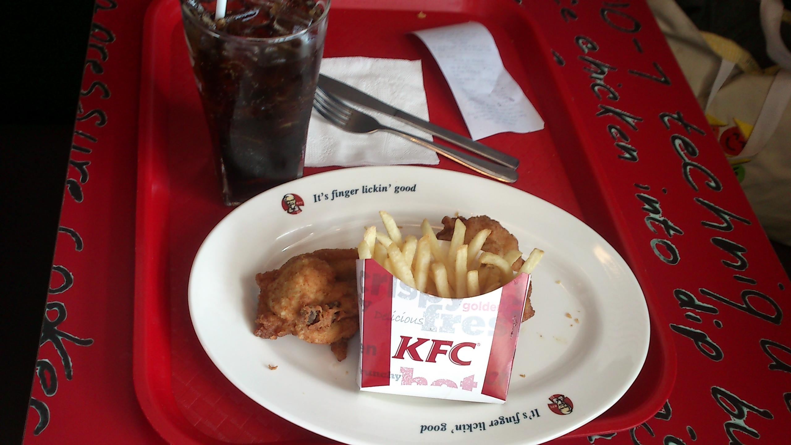 KFC に寿司を持ち込んで 食べる!!