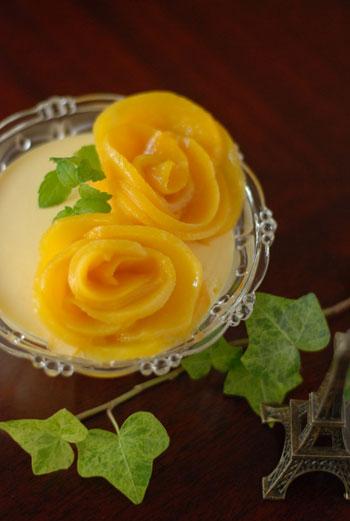 黄桃ババロア