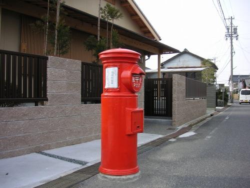 三重県松阪市の丸ポスト