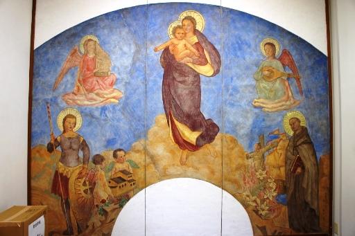 喜多見教会② フレスコ画①