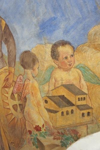 喜多見教会② フレスコ画③