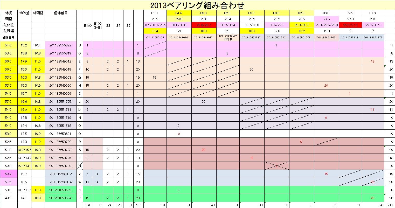 2013産卵セット結果