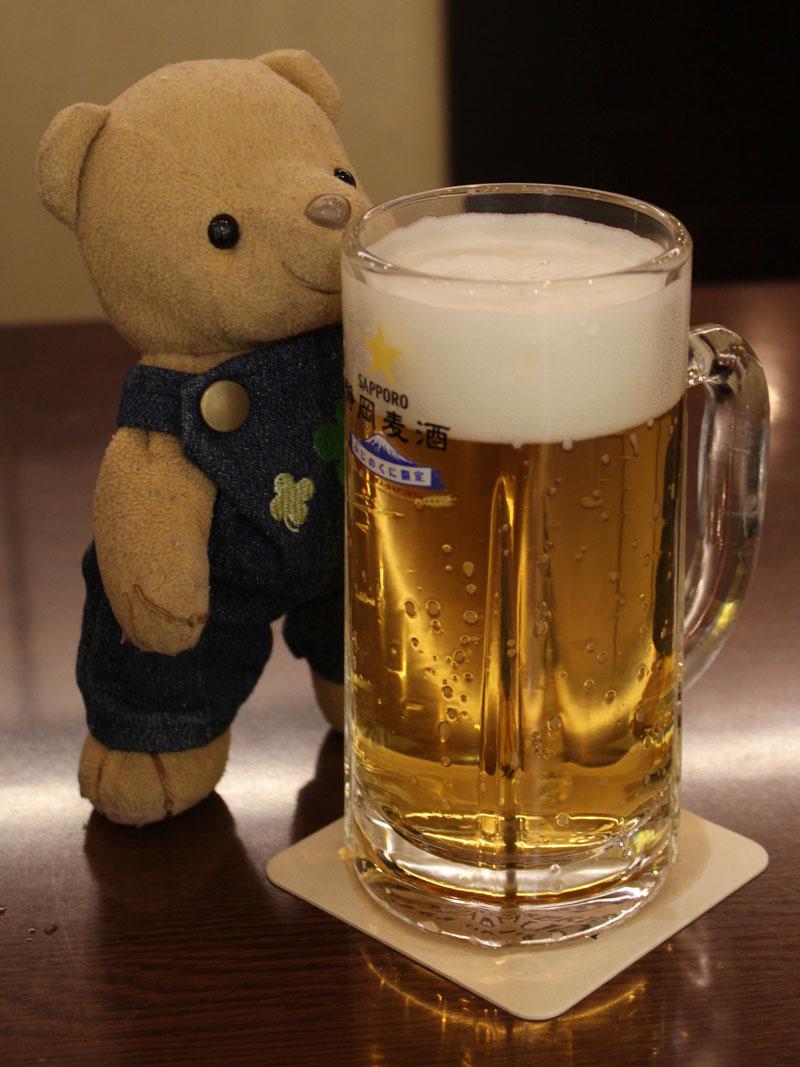 静岡麦酒をいただく ASTY銀座ライオン