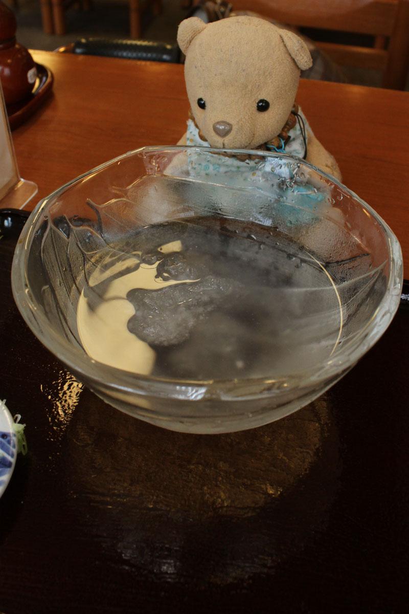 冷やしうどん(京めん処 喜楽) 残り水110907