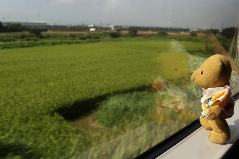 車窓の田園風景を 130907