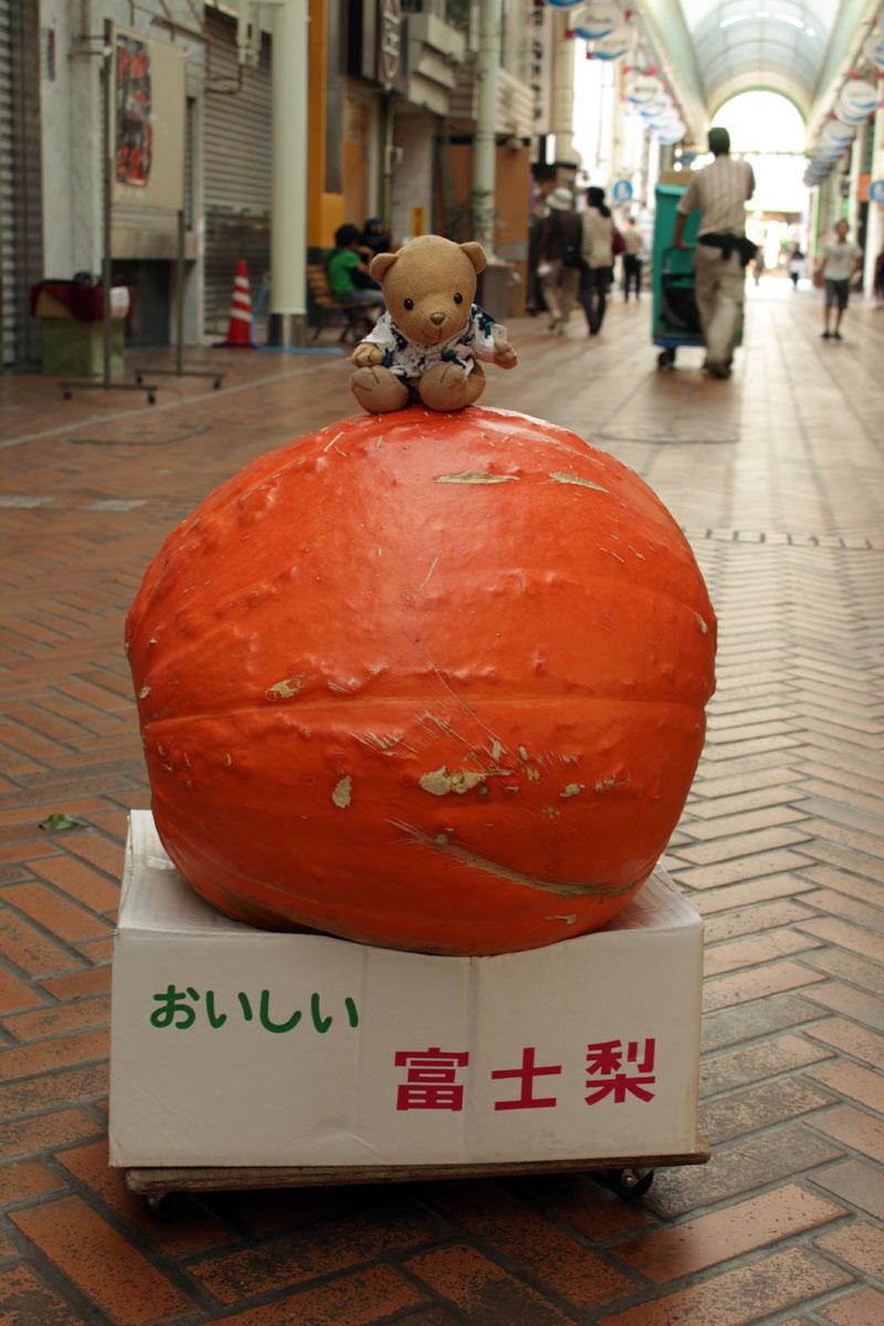かぼちゃの上で (沼津仲見世商店街)
