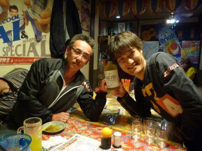 大橋さんと岡田さん42.195焼酎