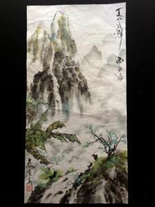 201307 水墨画師範試験10