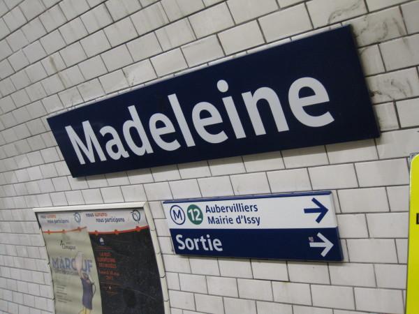 マドレーヌ駅