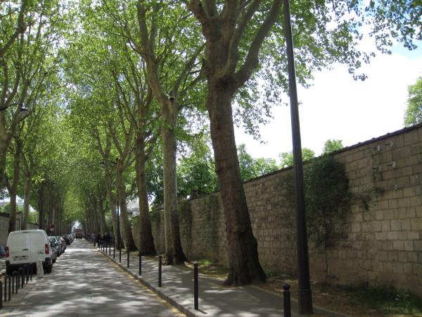 塀の向こうはモンパルナス墓地