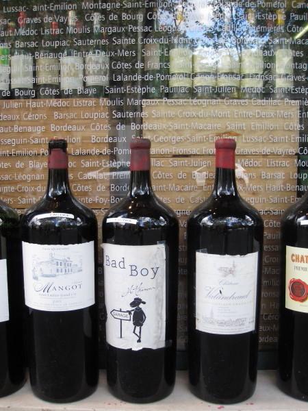 ワイン屋さんのディスプレイ