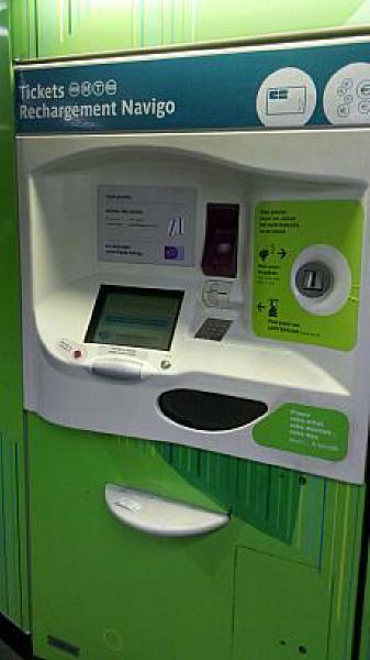 地下鉄切符の自動販売機